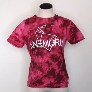 ANEMORIA band unisex tshirt size small RED TIE DYE